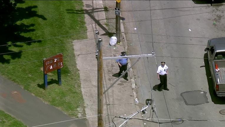 Police investigate man shot in Hope Park at Ella Street and Indiana Avenue in Kensington.