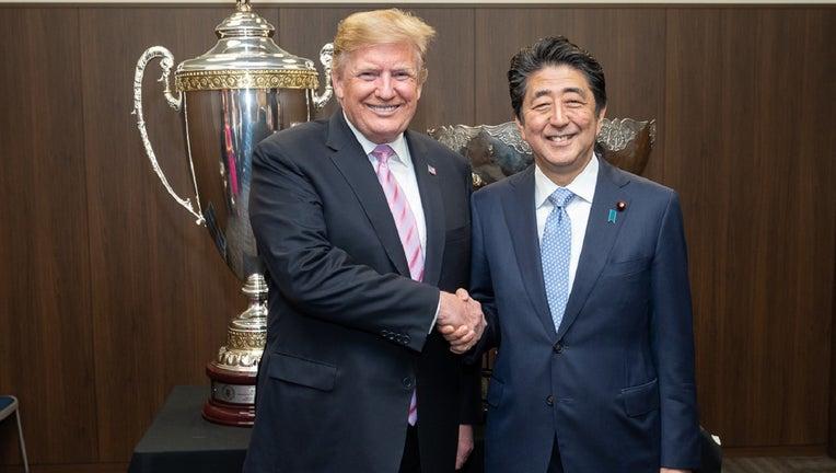 President Donald Trump and Japan Prime Minister Shinzo Abe