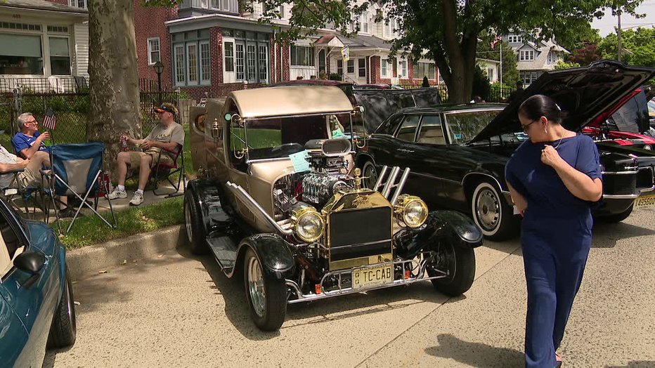 Classic and antique cars at the Collingswood May Fair.