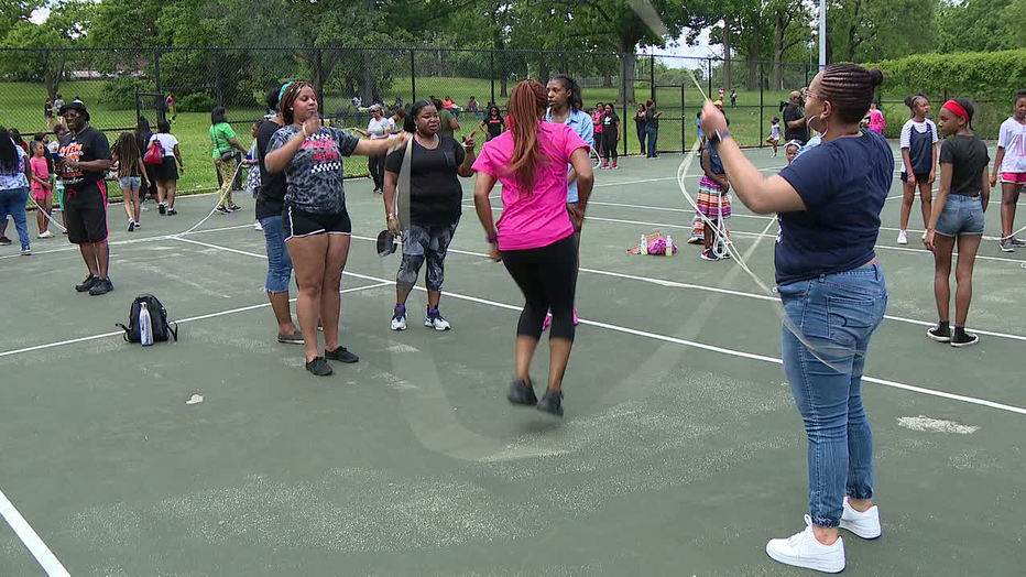 Double Dutch Jump Off held at Awbury Park by Philly Girls Jump.