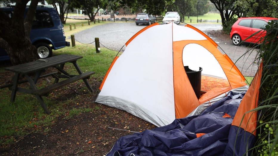 A tent is pictured at a campsite in this file photo.