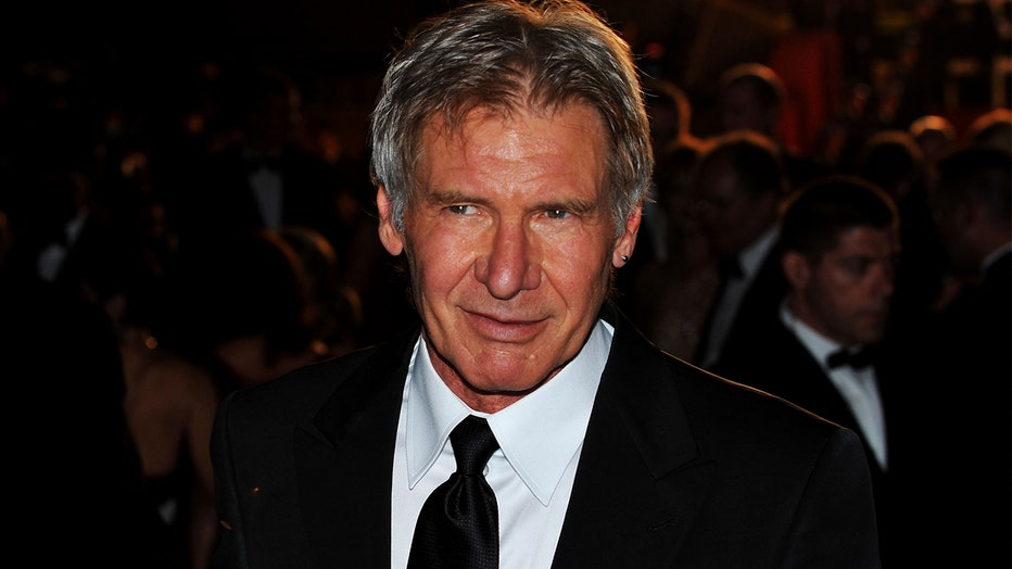 Actor Harrison Ford depart the Indiana Jones and The Kingdom of The Crystal Skull Premiere during the 61st International Cannes Film Festival on May 18 , 2008 in Cannes, France.