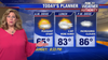 Weather Authority: Humid Monday amid rising temps