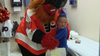 Gritty surprises young fan with customized prosthetic leg