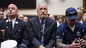 Jon Stewart gives emotional speech during Congressional hearing on 9/11 victims fund