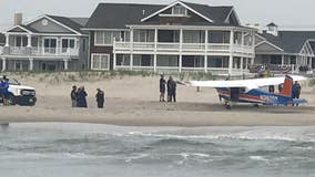 Small plane makes emergency landing on Ocean City beach