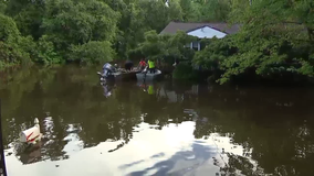 Lumberton floodwater nearly swallows mailboxes, front porches and engulfs basements
