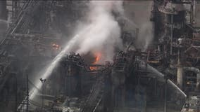 Officials: South Philadelphia refinery fire contained, not under control