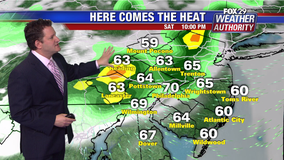 Weather Authority: Warm and cloudy Sunday; chance of afternoon storms