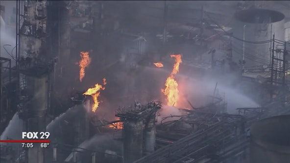 The Latest: South Philadelphia oil refinery fire