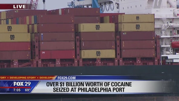 Over $1B worth of cocaine seized at Philadelphia port