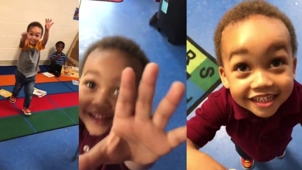 Maryland dad films son's adorable reaction to being picked up from pre-K