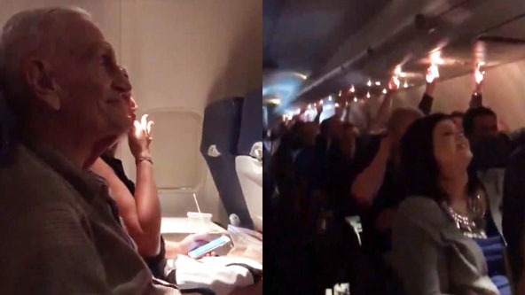 Southwest Airlines crew serenades WWII vet for 101st birthday