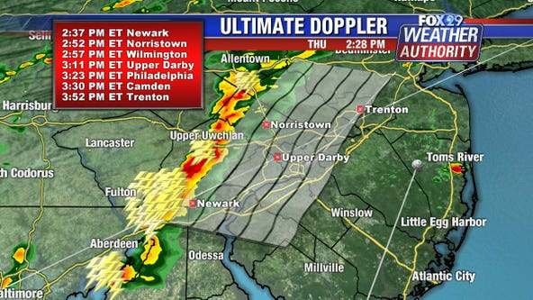 Severe thunderstorm warnings issued for multiple counties as line of storms moves through area