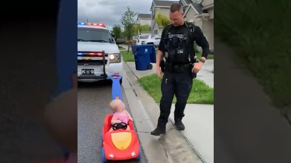 Florida officer 'pulls over' 10-month-old daughter in adorable video