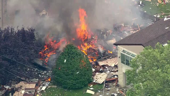 Crews on scene of house explosion in Bergen County