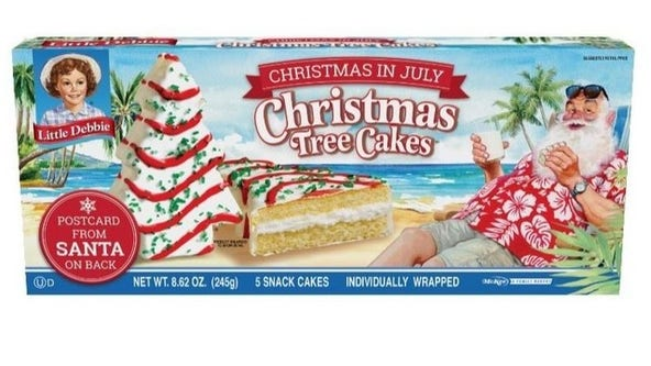They're back! Little Debbie Christmas in July Tree Cakes available at Walmart