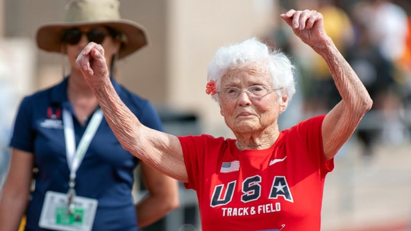103-year-old runner becomes oldest woman to compete on American track