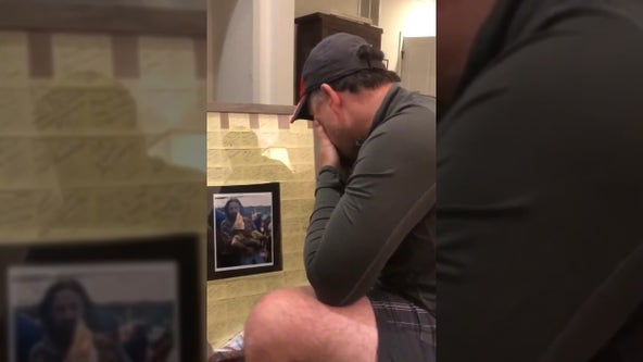Heartwarming video of stepdad receiving Father's Day gift goes viral