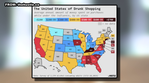 Survey reports drunk shopping is a $45 billion a year industry