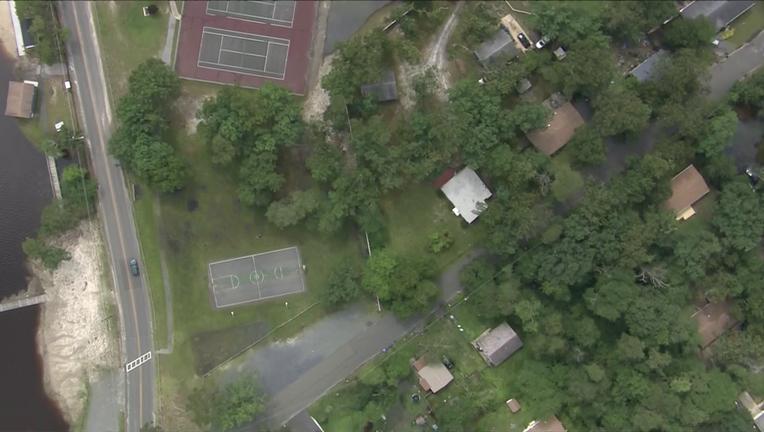 Flooding in Hanover Twp, NJ as seen from Skyfox Thursday.