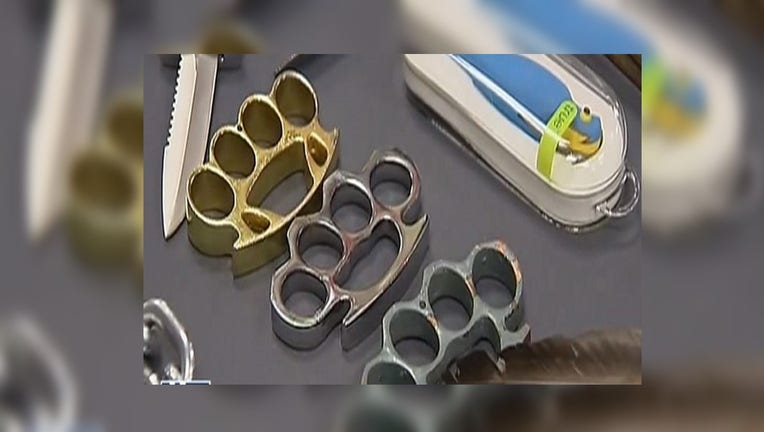 It will be legal in Texas to carry brass knuckles, clubs and self-defense keychains, according to reports, as of September 1.