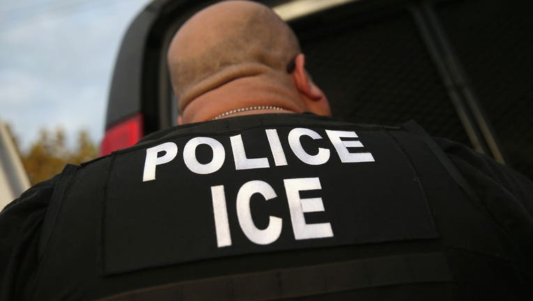 An ICE agent is shown in a 2015 file photo. (Photo by John Moore/Getty Images)
