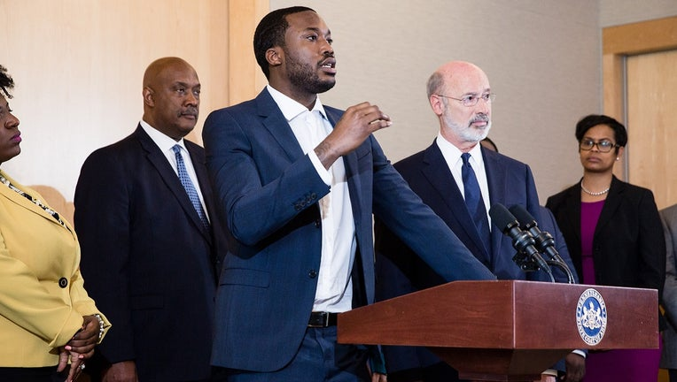 Meek Mill and Tom Wolf