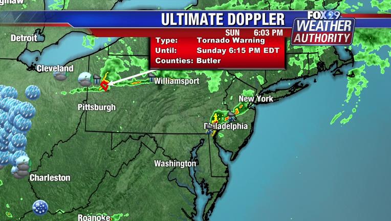 Snapshot of radar Sunday, June 16.