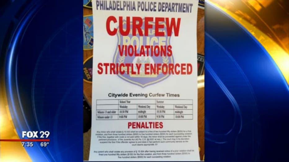 Philadelphia Police teen curfew