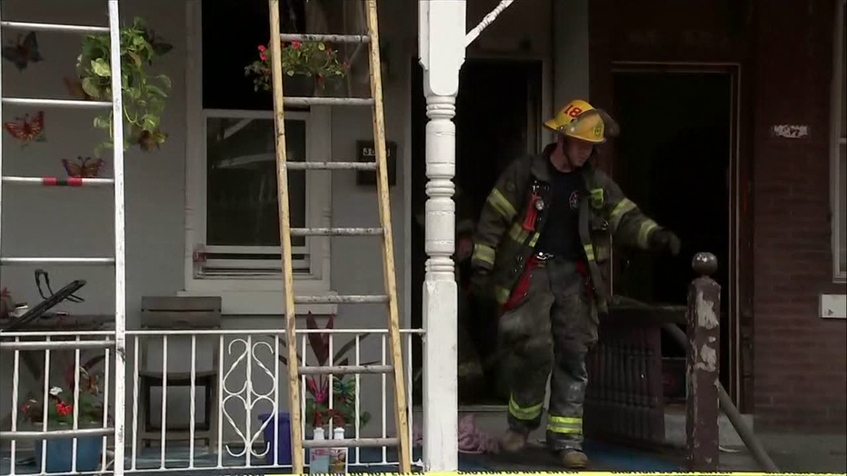 Man credited with heroic action attempting to rescue another man from Tioga-Nicetown burning building.