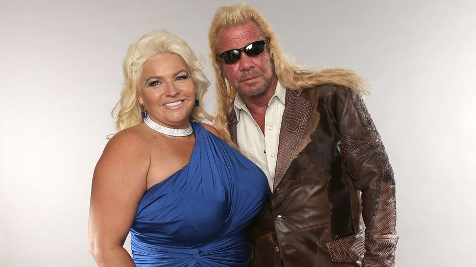 TV personalities Duane Dog Lee Chapman and Beth Chapman pose at the Wonderwall portrait studio during the 2013 CMT Music Awards at Bridgestone Arena on June 5, 2013 in Nashville, Tennessee. (Photo by Christopher Polk/Getty Images for Wonderwall)