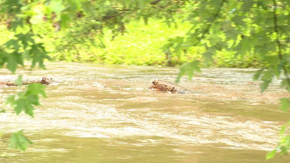 Flooding in Horsham, Pa. Thursday.