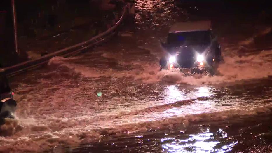 Flooding on I295 in Bellmawr.