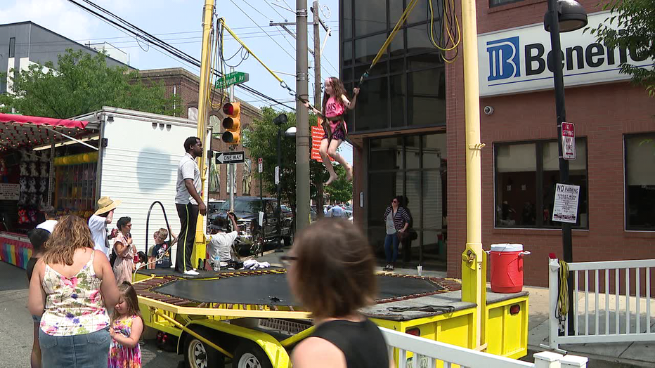 Folks enjoy and celebrate Italian culture at La Festa Street Festival in South Philadelphia.