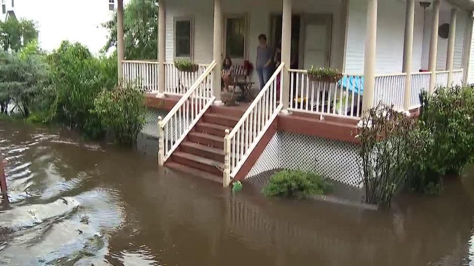 Flooding in Lumberton,N.J. Thursday.