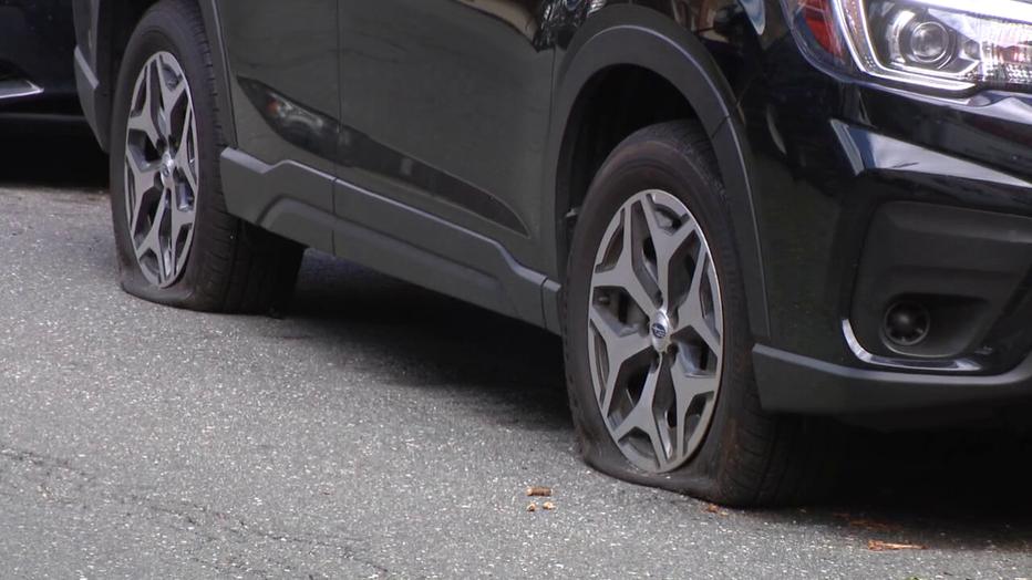 Tires slashed in South Philadelphia.