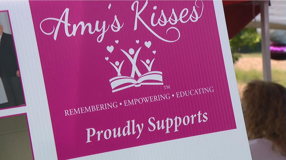 "The seventh annual ""Walk to Remember"" benefits the Amy's Kisses Foundation, a nonprofit created to provide domestic violence education as well as college scholarships and support to low-income students."