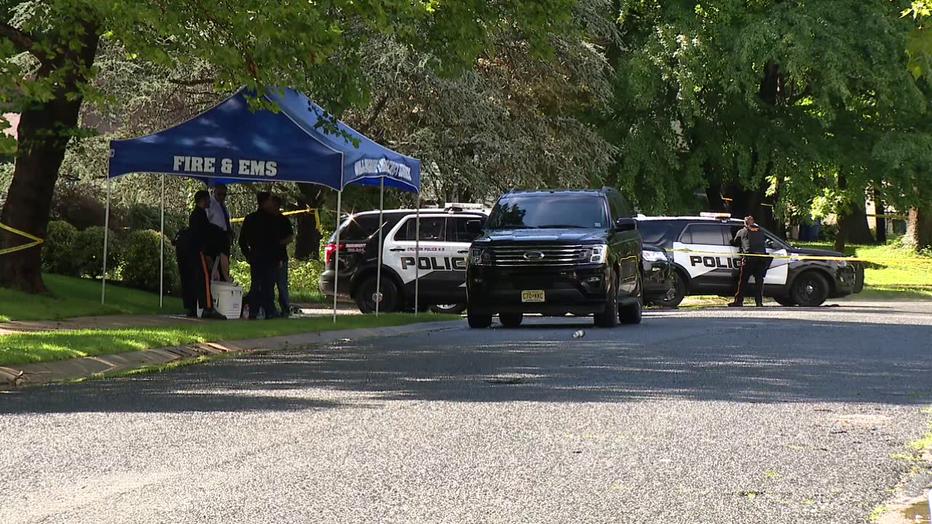 Police investigate double homicide in Willingboro, N.J. Thursday.