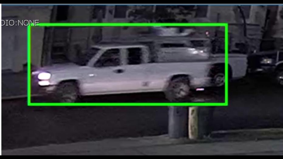 Suspect truck in North Camden Little League burglary.