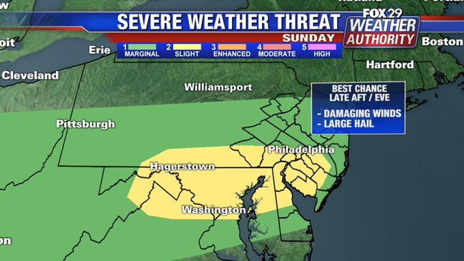 Severe thunderstorm warning for Chester County until 6:15 p.m.