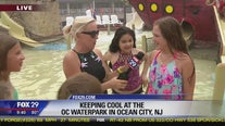Kids hit the water park in Ocean City to keep cool