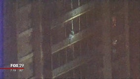 Only in Philly: Man scales high rise to escape fire