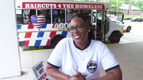 Local woman provides free haircuts to those in need in mobile barbershop