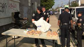 Camden police host block party for citizens with cookout, video games