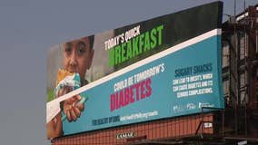 Billboard carries controversial message on diabetes