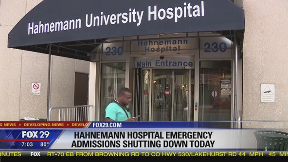 Hahnemann University Hospital ER shutting down today
