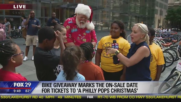 Philly Pops donate over 100 bikes to military, police and fire department families