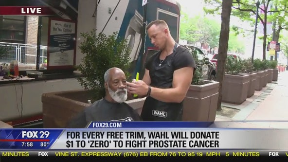 Wahl gives free shaves to fight cancer