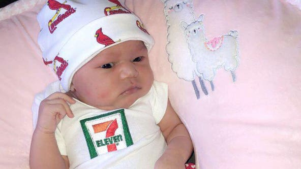 7-Eleven gifts $7,111 to baby born on July 11 at 7:11 p.m., weighing 7 pounds, 11 ounces